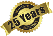 25 years experience badge